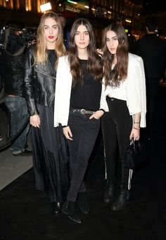 Charlotte Gainsbourg Debuts Louis Vuitton Fall 2014 on the Red Carpet: Haim at the opening of Karl Lagerfeld, Regent Street