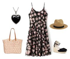 romantic outfit for summer by liliana-vaccara on Polyvore featuring moda, Oasis, Straw Studios and Lord & Taylor