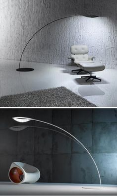 What a beautiful slim design! One of the advantages of LED. Folia LED floor light in carbon fibre