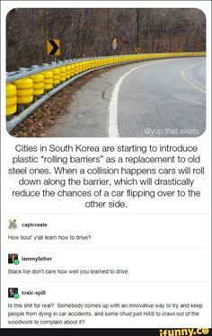 Rolling Barriers in South Korea Tumblr Funny, Funny Memes, Hilarious, Collateral Beauty, Pin On, Tumblr Stuff, The More You Know, Faith In Humanity, Thought Provoking