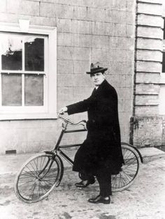 Michael Collins with His Famous Bicycle by Irish Photographer Transportation Photographic Print - 46 x 61 cm Irish Restaurants, Images Of Ireland, Irish Landscape, Castles In Ireland, Michael Collins, Irish Culture, Irish Traditions, Vintage London, Historical Images
