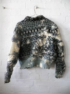 love this destroyed sweater