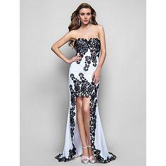 Trumpet/Mermaid Sweetheart Asymmetrical Chiffon Evening Dress – USD $ 249.99
