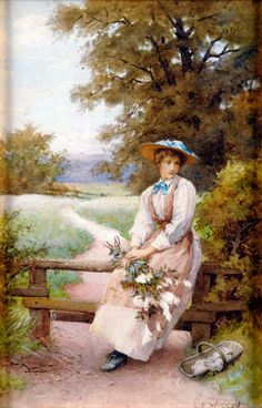 The Country Girl—by Charles Edward Wilson (1854-1941)