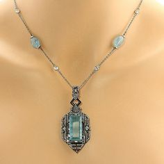 Cool aquamarines and diamonds Available to order tobylynngems@aol.com
