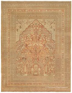 A guide to the art and history of antique Hadji Jallili (Haji Jalili) Tabriz Persian carpets and rugs from Claremont Rug Company Homemade Home Decor, Rugs On Carpet, Carpets, Tabriz Rug, Prayer Rug, Carpet Styles, Floor Rugs, Persian Rug, Oriental Rug