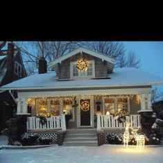 arts and crafts style christmas house - Google Search