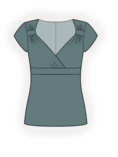 Chemisier - Patrons de couture #4291. Made-to-measure sewing pattern from Lekala with free online download.