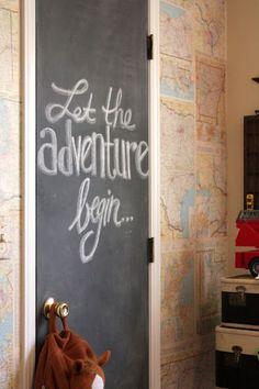 pinta la puerta con pintura de pizarron
