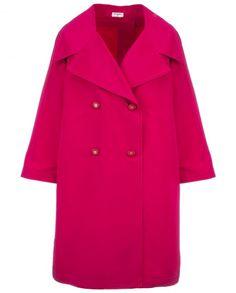 Fuschia Chanel silk trench coat-dress, 1980s