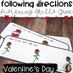Valentine's Day Speech Therapy | Following Directions | Li