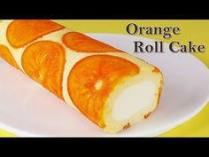[Roll cake] How to make a perfect orange roll cake / Dojima roll cake recipe Sweets Recipes, Cake Recipes, Orange Rolls, Cake Decorating, Bakery, Sweet Treats, Cooking, Food, Cake Youtube