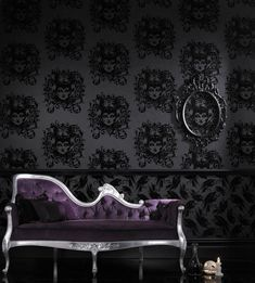 Maleficent wallpaper by Barbara Hulanicki. Pinned with @Maureen P. in mind.