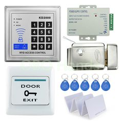 Access Control Original Free Shipping Full Set With Electric Bolt Lock+keypad+power Supply+exit Switch+keys Door Access Control System Kit Access Control Kits