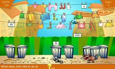 Street Cats game. Great for sentence building. They offer both a PC and a Mac version to download too. ESL / EFL