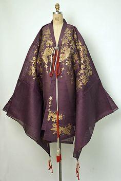 Costume (Theatrical)  Date:    18th century  Culture:   Japanese  Medium:    (e, f) cotton (g) paper