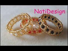 Charming Beaded Ring Tutorial Super Easy ❤ï . Diy Beaded Rings, Beaded Earrings, Beaded Bracelets, Charm Bracelets, Silver Bracelets, Seed Bead Jewelry, Bead Jewellery, Wire Jewelry, Seed Beads
