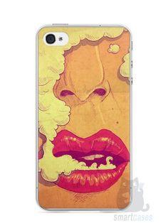 Capa Iphone 4/S Smoking Weed