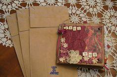 Making scrapbooks out of paper sacks Scrapbook Paper Projects, Paper Bag Scrapbook, Art Education Projects, Craft Projects, Craft Ideas, Smash Book Pages, Paper Sack, Paper Bag Album, How To Make Scrapbook