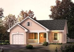 Cottage Style House Plan - 2 Beds 1 Baths 888 Sq/Ft Plan #57-314