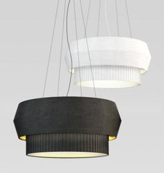 Delta lamp series in black white from Rich Brilliant Willing