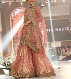 Dress is not only about style and design, but its about reflection person attractiveness. Here, you will see huge Pakistani Engagement Dresses Pakistani Engagement Dresses, Pakistani Wedding Outfits, Bridal Outfits, Pakistani Dresses, Indian Dresses, Indian Outfits, Pakistani Garara, Pakistani Kurta, Pakistani Couture