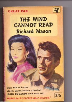 """The Wind Cannot Read by Richard Mason. Cover artwork by Sam Peffer (""""Peff""""). World Library, Agatha Christie, Book Collection, Paperback Books, Cover Art, Canning, Film, Reading, Movie Posters"""