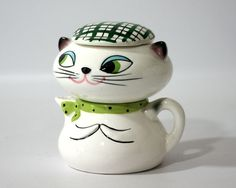 Holt Howard Cozy Kitten Stacking Cream and Sugar set