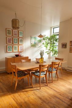 lovely light wood dining