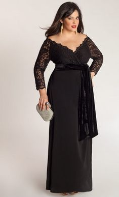 Igigi Anastasia Plus Size Gown in Onyx $295