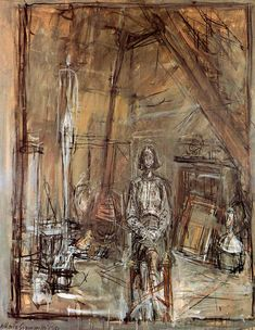 Alberto Giacometti October 1901 – 11 January was a Swiss sculptor & painter - Recommended by RAFO, Galleria Morcote & swissartgroup Alberto Giacometti, Sgraffito, Giacometti Paintings, Figure Painting, Painting & Drawing, Modern Art, Contemporary Art, Antoine Bourdelle, Jean Leon