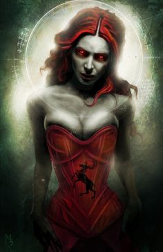 and now we know the secret behind why she wants to set everything on fire...her corset is two sizes too small ;-P art by melisandre by *menton3 on deviantart
