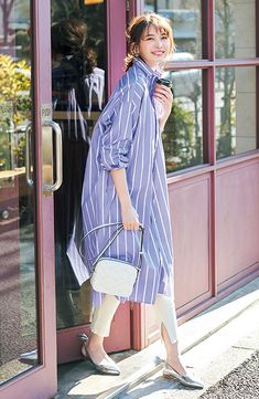 Girl Fashion Style, Love Fashion, Trendy Fashion, Womens Fashion, Japan Fashion, Women's Summer Fashion, African Print Dress Designs, Dress Over Pants, Simple Summer Outfits