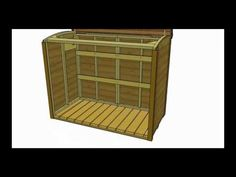 Garbage Can Storage Shed - Oscar Assembly Video by Outdoor Living Outdoor Storage Bin, Outside Storage Shed, Shed Storage, Storage Bins, Pallet Garden Box, Garbage Can Storage, Concrete Projects, Pallet Projects, Trash Bins