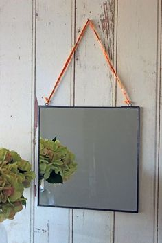 The Antique Zinc Square Mirror is perfect for the hall the bathroom or the bedroom The mirror measures 30cm x