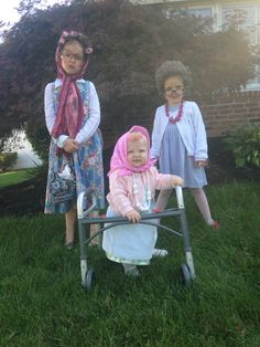 Old Ladies - Kid Halloween Costumes. DIY!