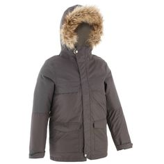 Hiking_Winter Bekleidung Kinder - Jacke XX Warm Kinder grau QUECHUA - Oberbekleidung Kinder