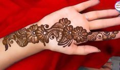 Simple Mehendi designs to kick start the ceremonial fun. If complex & elaborate henna patterns are a bit too much for you, then check out these simple Mehendi designs. Mehandi Design For Hand, Mehndi Designs Front Hand, Mehndi Designs 2018, Modern Mehndi Designs, Mehndi Designs For Girls, Mehndi Designs For Beginners, Henna Designs Easy, Mehndi Designs For Fingers, Rangoli Designs