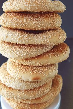 Milk and Honey: Greek Sesame Bread Rings (Koulouri Thessalonikis) Bread And Pastries, French Pastries, Greek Cookies, Armenian Recipes, Milk And Honey, Greek Recipes, Bread Baking, Cooking Recipes, Cooking Ideas