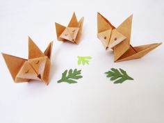 paper foxes