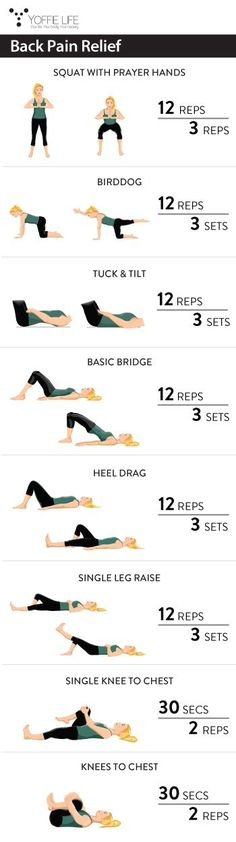 Back Pain Relief fitness healthy fit workout exercise painrelief backexercises squat
