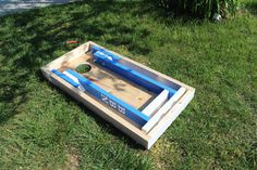 Custom Corn Hole Set with Bags and Drink Stands by FishsCustoms