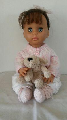 My brunette bluebird No One Loves Me, Vintage Dolls, Blue Bird, Baby Dolls, Print Patterns, First Love, Teddy Bear, Toys, Animals