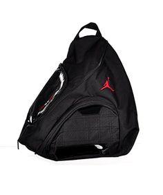 Nike Jordan Jumpman Sling Black Patent Red Zipper Book-Bag BackPack Men Women  by Jordan 32270e25eda0f