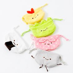 These adorable mini drawstring bags are perfect for carrying around all your essential smaller items like cosmetics or electronic accessories! Each of the cute characters in San-X's Sumikko Gurashi lineup is extremely shy and likes to spend its time in the corner of the room. Five equally adorable versions are available: Furoshiki - who actually is a pink folding cloth bag so will really enjoy car... #cosplay