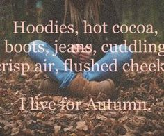 Love the fall! ~ I love fall!