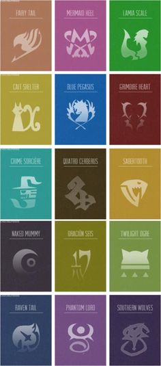 Guild symbols in Fairy Tail http://anime.about.com/od/fairytail/