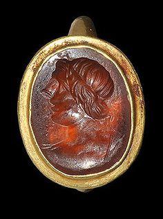 Roman gold ring with Apollo intaglio   Antiques, Antiquities, Roman   eBay!