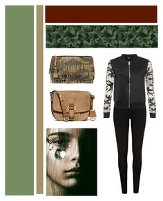 """""""Camo"""" by amalie-solis ❤ liked on Polyvore featuring River Island, WearAll, Yves Saint Laurent, MICHAEL Michael Kors and camostyle"""
