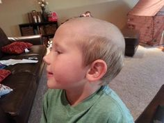 Another reason kids should never be left alone with their dads:  They'll insist on saving money by doing the kids' haircuts themselves. [via reddit.com]